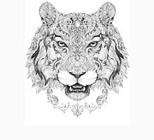 Head a tiger with floral ornaments Unisex T-Shirt