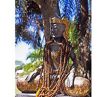 Wooden Buddha Photographic Print