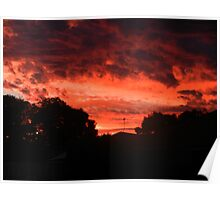 Red sky delight Poster