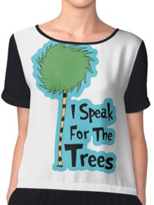 I Speak For The Trees Chiffon Top