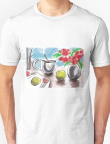 Lemons and Red Flowers T-Shirt