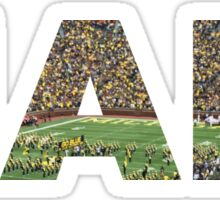 HAIL Michigan Football Sticker