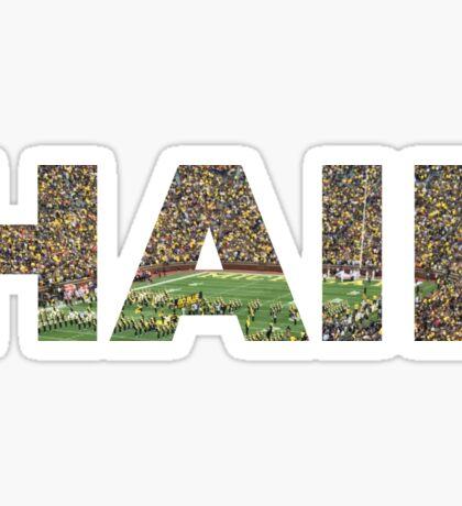 HAIL Michigan Football Sticker