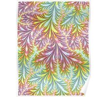 Pastel Fronds Poster