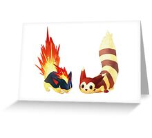 The Poke friends  Greeting Card