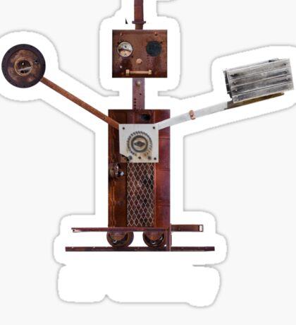 Mr Clanky - Steampunk Robot Sticker