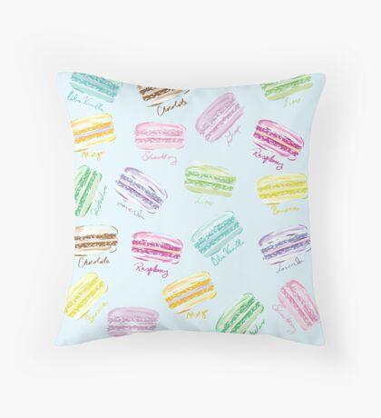 Macaron Macaroons Throw Pillow