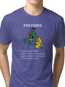 Phombie - Mobile Phone Zombie Tri-blend T-Shirt