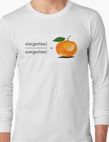 Maths Geek Joke - Tangerine Long Sleeve T-Shirt