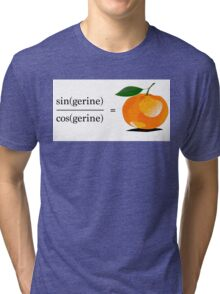 Maths Geek Joke - Tangerine Tri-blend T-Shirt