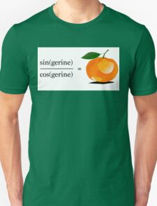 Maths Geek Joke - Tangerine Unisex T-Shirt