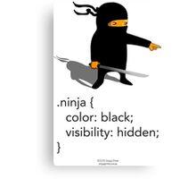 Geek Tee - CSS Jokes - Ninja Canvas Print