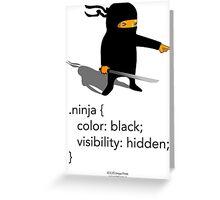Geek Tee - CSS Jokes - Ninja Greeting Card