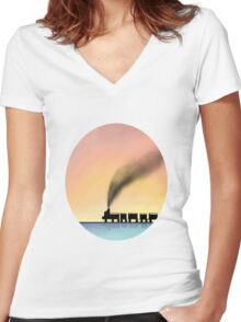 Day Dream Women's Fitted V-Neck T-Shirt