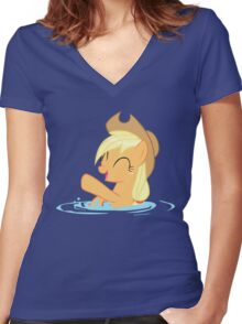 Splashy Horse Women's Fitted V-Neck T-Shirt