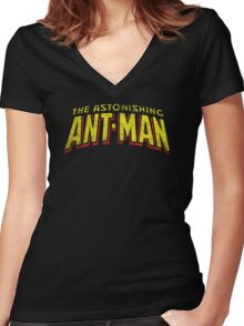 The Astonishing Ant-Man - Classic Title - Dirty Women's Fitted V-Neck T-Shirt