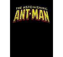 The Astonishing Ant-Man - Classic Title - Dirty Photographic Print