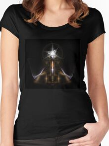 Star Ring Of Light Women's Fitted Scoop T-Shirt
