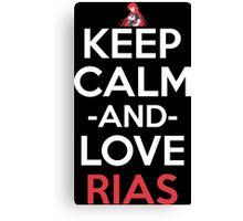 Keep Calm And Love Rias Anime Shirt Canvas Print