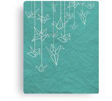 White Cranes Canvas Print