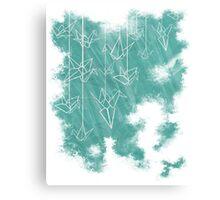 White Cranes ( Fade ) Canvas Print