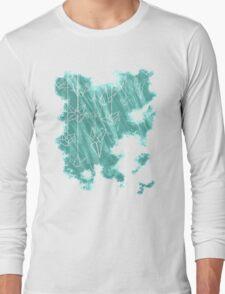 White Cranes ( Fade ) Long Sleeve T-Shirt