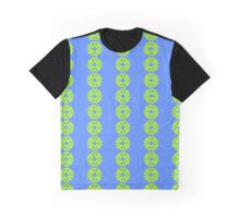 Green and Blue Fun Graphic T-Shirt