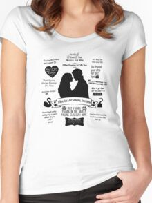 "Captain Swan ""Iconic Quotes"" Silhouette Design  Women's Fitted Scoop T-Shirt"