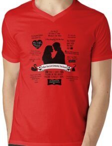"Captain Swan ""Iconic Quotes"" Silhouette Design  Mens V-Neck T-Shirt"