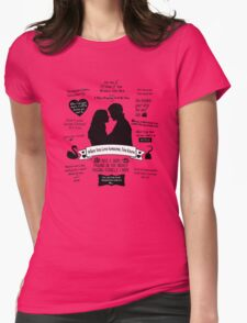 """Captain Swan """"Iconic Quotes"""" Silhouette Design  Womens Fitted T-Shirt"""