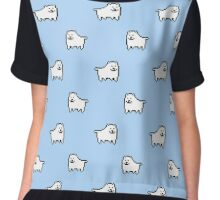 Undertale Annoying Dog - Pastel Blue Chiffon Top