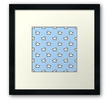 Undertale Annoying Dog - Pastel Blue Framed Print