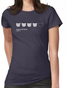 Meow Meow Beenz Level 4 Womens Fitted T-Shirt
