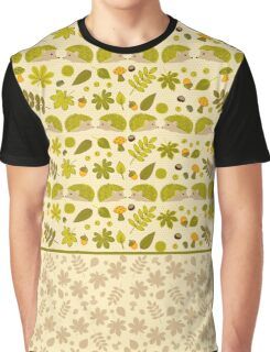 Hedgehogs in the Green Fall Graphic T-Shirt