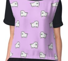 Undertale Annoying Dog - Pastel Purple Chiffon Top