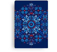 Folk Floral Tale Canvas Print