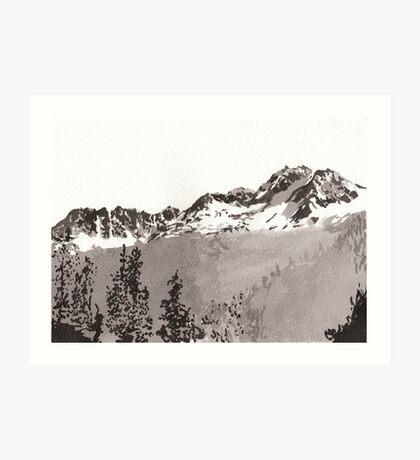 Sawtooth Mountains Art Print