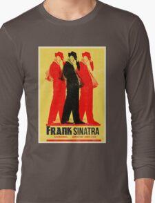 Frank Sinatra Letterpress Poster Long Sleeve T-Shirt