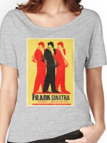 Frank Sinatra Letterpress Poster Women's Relaxed Fit T-Shirt