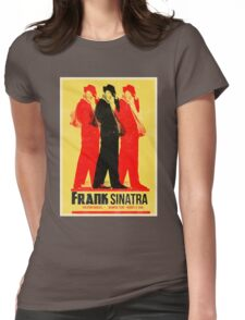 Frank Sinatra Letterpress Poster Womens Fitted T-Shirt