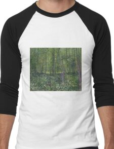 Vincent Van Gogh - Trees and undergrowth, July 1887 - 1887 Men's Baseball ¾ T-Shirt