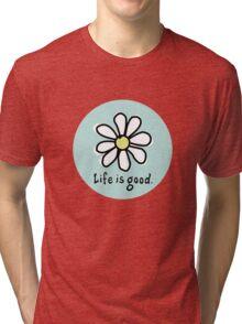 Life is Good Aqua Tri-blend T-Shirt