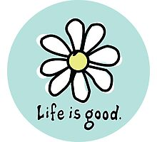 Life is Good Aqua Photographic Print