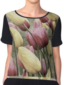 Effectively Tulips Chiffon Top