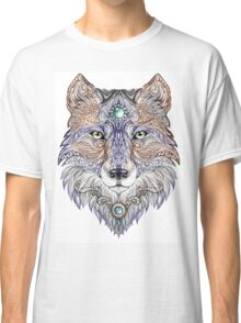 Head wolf wild beast of prey (color) Classic T-Shirt