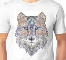 Head wolf wild beast of prey (color) Unisex T-Shirt