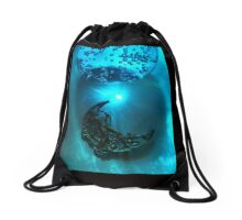 Blue moon ascending Drawstring Bag