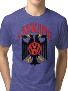 2Headed Black Iron Eagle Volkswagen style Tri-blend T-Shirt