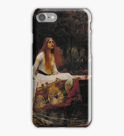 John William Waterhouse - The Lady of Shalott 1888 . Woman Portrait  iPhone Case/Skin
