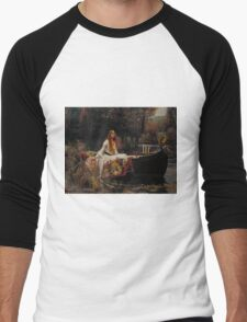 John William Waterhouse - The Lady of Shalott 1888 . Woman Portrait  Men's Baseball ¾ T-Shirt